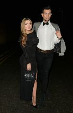 Abi Clarke and Juanid Ahmed On a night out at Sheesh