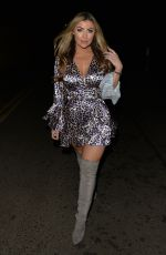 Abi Clarke Arriving at Faces night club in London