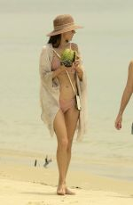 Alessandra Ambrosio In a soft pink bikini while on a family vacation in Florianopolis