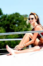 Alessandra Ambrosio On a yacht in Florianopolis