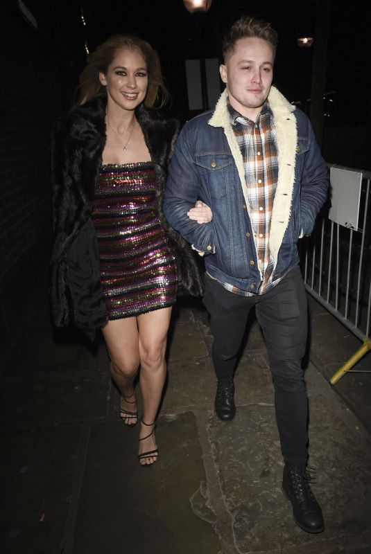 Amanda Clapham At The Hollyoaks Christmas Party at Revolution Bar in Liverpool
