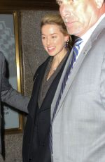 Amber Heard Arrives for her appearance on