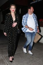 Amber Heard Heads out for dinner in Beverly Hills