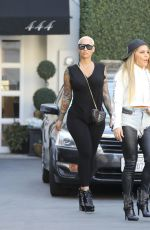 Amber Rose Leaving Epione in Beverly Hills