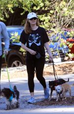 Amy Adams Hiking with her family in Beverly Hills