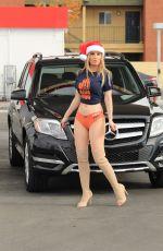 Ana Braga Spotted at a Gas Station