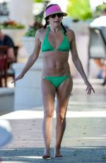 Andrea Corr Enjoys a day on the beach in Barbados