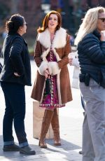 """Anne Hathaway On the set of """"Modern Love"""" in NYC"""