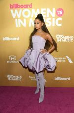 Ariana Grande At Billboard Women In Music 2018 in New York City
