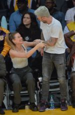 Behati Prinsloo Watch Lakers game at the Staples Center in Los Angeles