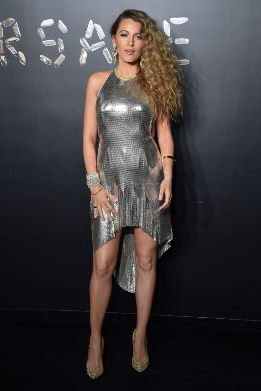 Blake Lively At Versace Pre-Fall 2019 Collection show in NYC