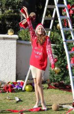 Blanca Blanco Gets in the Christmas spirit for a photo shoot in Beverly Hills