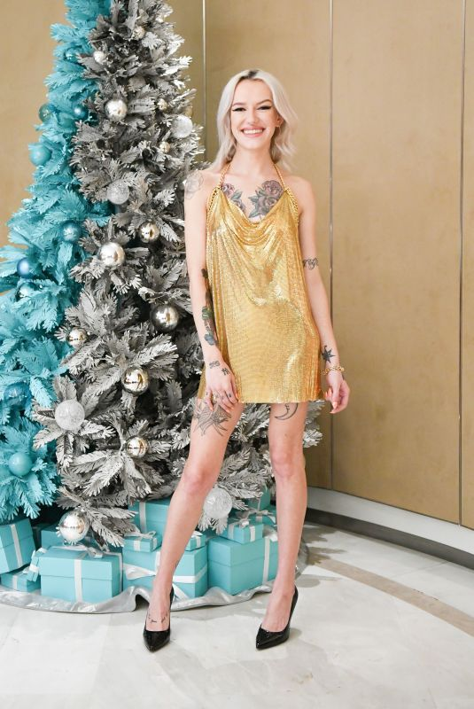 Bria Vinaite At Tiffany and Co. celebrate the Holidays with a Girls Night In, Los Angeles