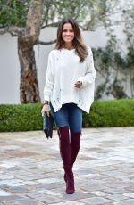 Brooke Burke-Charvet Dressed for Winter in Malibu