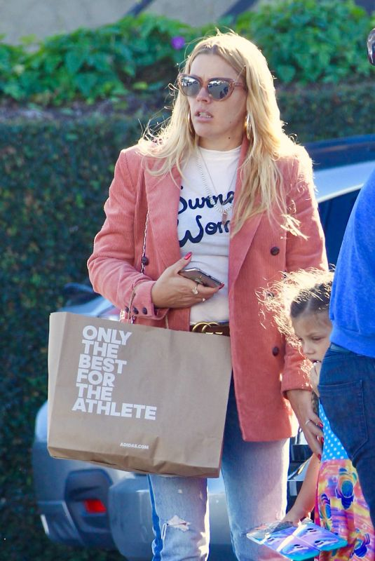 Busy Phillips and family go holiday shopping at Fred Segal, West Hollywood