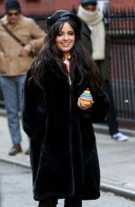 Camila Cabello On the set of a Mastercard commercial in NYC