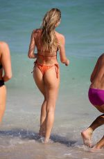 Candice Swanepoel On the beach in Miami