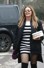 Carol Vorderman Leaving The BBC Studios In Cardiff