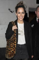 Caroline Flack Leaving the Phoenix Theatre, having performed in a production of Chicago The Musical