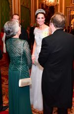 Catherine Duchess of Cambridge At the Diplomatic Corps at Buckingham Palace in London