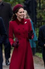 Catherine, Duchess of Cambridge & Meghan, Duchess of Sussex Attend Christmas Day Church service in King