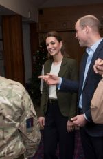Catherine, the Duchess of Cambridge Visits the mess hall in Akrotiri, Cyprus