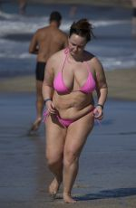 Chanelle Hayes Displays her Figure on The Beach In Spain