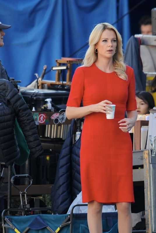 """Charlize Theron Filming """"Fair and Balanced"""" in Los Angeles"""