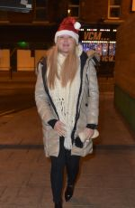 Charlotte Crosby Gets into the Christmas spirit hours after landing from a family holiday in Dubai