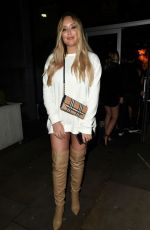 Charlotte Crosby On boxing night out at menagerie in Manchester