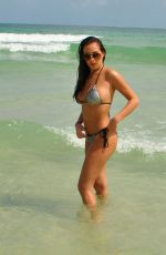 Chloe Goodman Enjoys a day on the beach in the Barbados