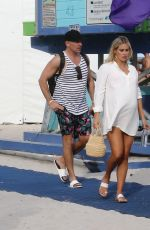 Claire Holt and Andrew Joblon are seen at Miami Art Basel