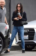 Courteney Cox Spends her morning shopping for furniture in West Hollywood