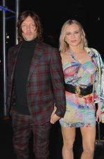 Diane Kruger and Norman Reedus at the Versace Fashion Show in New York City