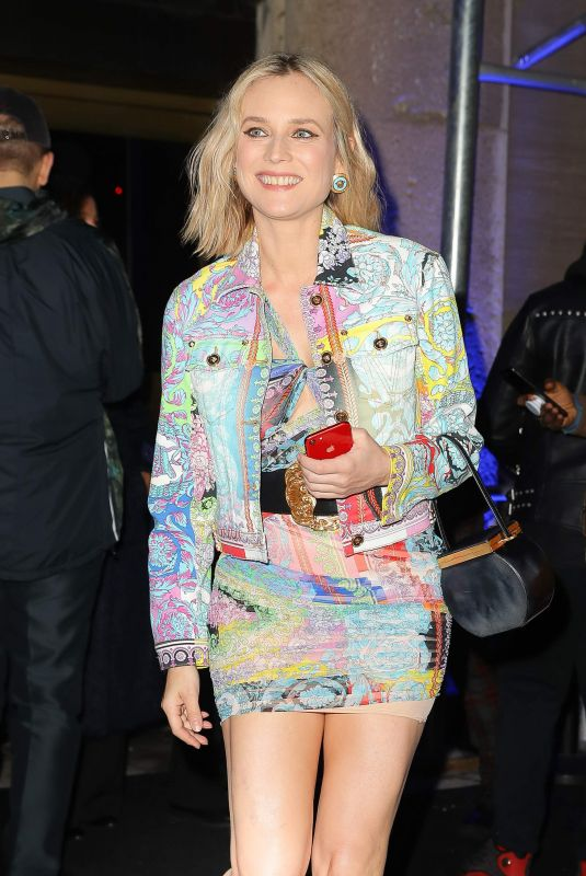 Diane Kruger At Versace show, Pre-Fall 2019, New York