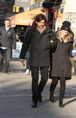 Dianna Agron and Winston Marshall Out in Soho
