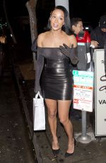 Draya Michele Outside Delilah restaurant, West Hollywood