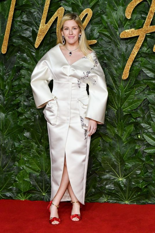 Ellie Goulding At The British Fashion Awards in London