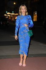 Emily Blunt In a flowered blue outfit while attending to the Mary Poppins Returns Q&A in NYC
