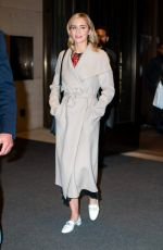 Emily Blunt Leaving her hotel in New York City