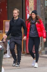 Emily Didonato and husband Kyle Peterson do some holiday shopping in Soho