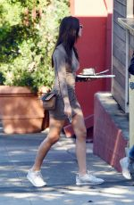 Emily Ratajkowski Outside intelligentsia coffee bar in Silverlake