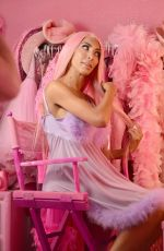 Farrah Abraham On set shooting a christmas photoshoot at the pink palace in LA