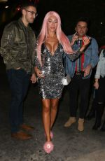Farrah Abraham Shines in silver at the Academy Nightclub in Hollywood