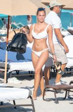 Francesca Brambilla Enjoys a day at the Miami Beach
