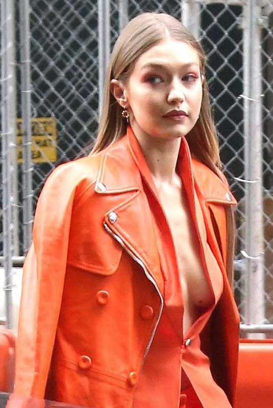 Gigi Hadid Going to a Vogue event in NYC