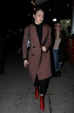 Gigi Hadid Steps out for diner with a friend in New York