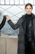 Hailee Steinfeld Visits the Empire State Building as host in New York City