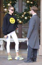 Hailey Baldwin Leaving the Montage Hotel in Beverly Hills