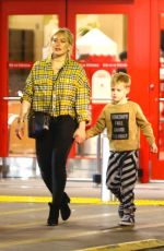 Hilary Duff and Matthew Koma go shopping with Luca at Target in Studio City
